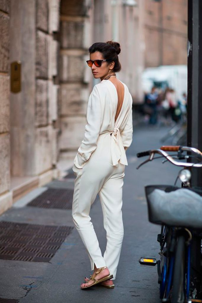 #basic #streetstyle #outfit #looks #basicos #inspiracion #inspiration #white #jumpsuit