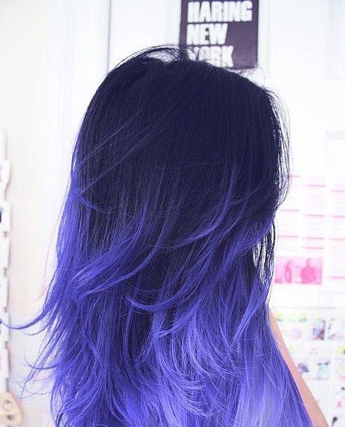 dark blue hair tumblr ile ilgili görsel sonucu