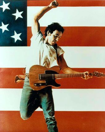 Bruce Springsteen for his album 'Born In The USA'.  I don't know how many times my then five year old son went through his Springsteen Born In The USA moves. So much fun and I've got the photos to prove it!