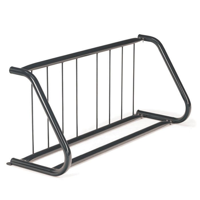 Traditional 7 Bike Sport and Scooter Freestanding Bike Rack