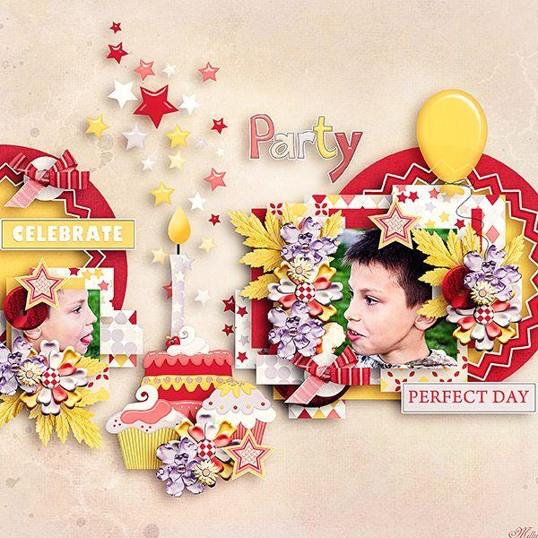 A girl's birthday bundle by Tinci Designs template A girl's birthday template pack by Tinci Designs