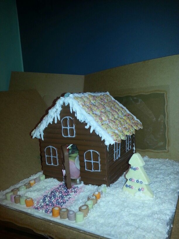 Sweet filled chocolate house