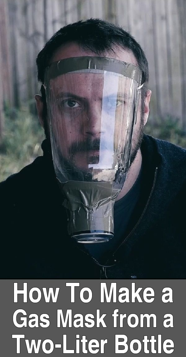 How To Make a Gas Mask From a Two-Liter Bottle. In this video, Black Scout Survival makes a gas mask with a bottle, a can, rubber bands, cotton rounds, duct tape, medical tape, and activated charcoal.