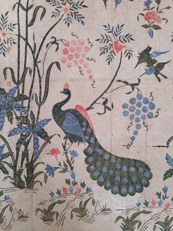 Motif Batik Hewan : motif, batik, hewan, Indonesian, Drawn, Javanese, Batik, Sarung, Peacock, Motif, Sketsa,, Hewan,