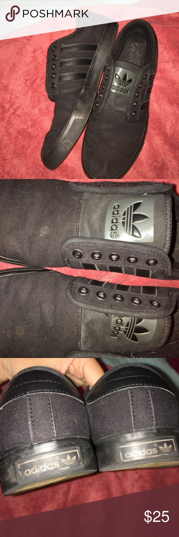 Adidas Seeley Skate Shoes Men's size 7.5 These are in great condition, I've only worn them a few times. They've been sitting in my closet for a year or so and haven't been worn in at all. Willing to discuss price! adidas Shoes Sneakers