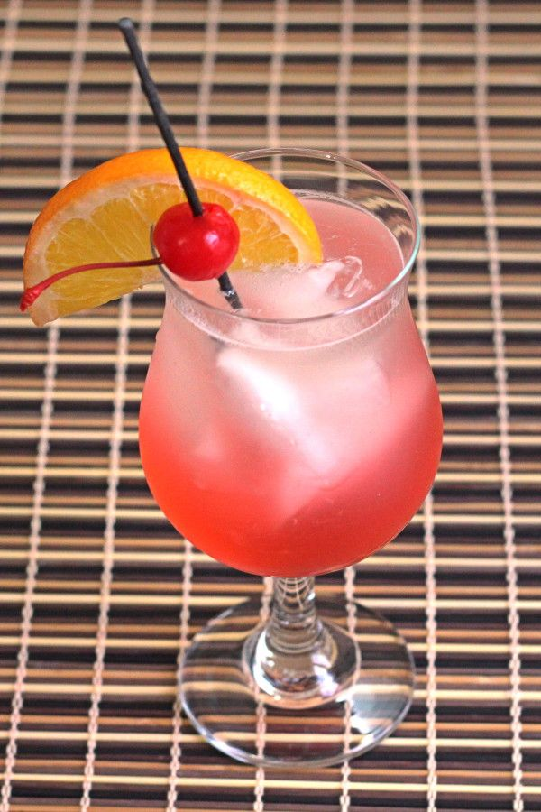 Cherry Vodka Sour drink recipe with vodka, grenadine and sour mix.