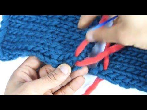 #Tricot - La couture invisible pour le point jersey à l'horizontale - YouTube