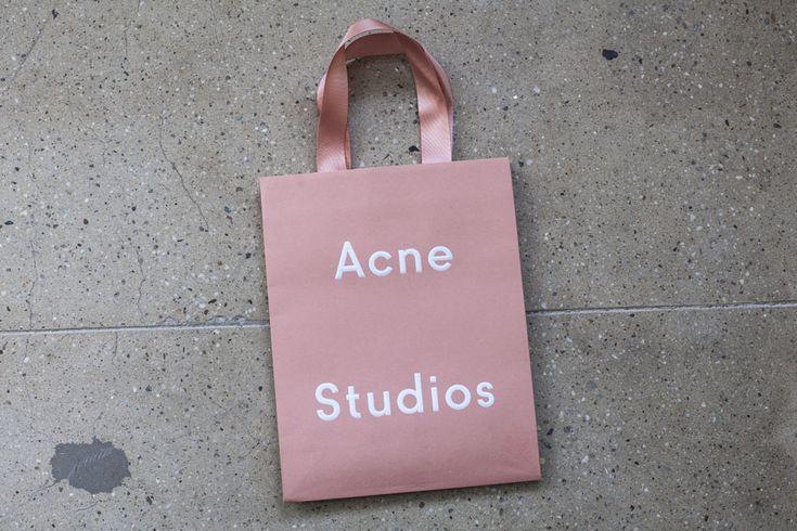 remember-paper: Acne Studios Shopping Bag