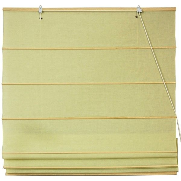 Oriental Furniture Cotton Roman Shades Yellow Cream ($19) ❤ liked on Polyvore featuring home, home decor, window treatments, window blinds, cotton window shades, oriental home decor, cream blinds, asian home decor and cotton roman shade