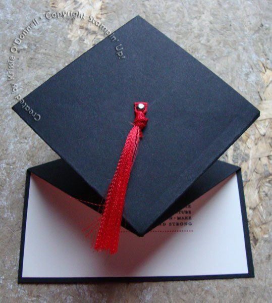 Strictly Stampin': Graduation Cap Spring Card