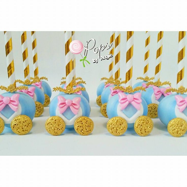 Cinderella's Carriage cake pops by O'Pops