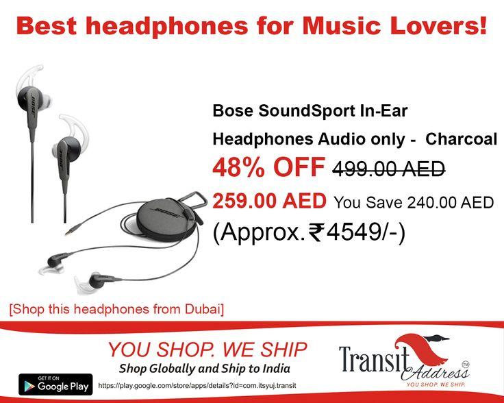 #Bose SoundSport in ear headphones for your workout sessions #price #comparison #India #DUBAI #shopfromUAE #shopping #shipping #international transitaddress.com/