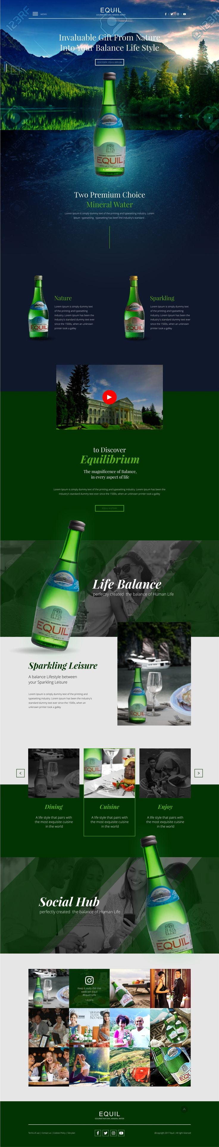 Rian Design Website modern, responsive, simple and elegant (Equil minuman Draft)