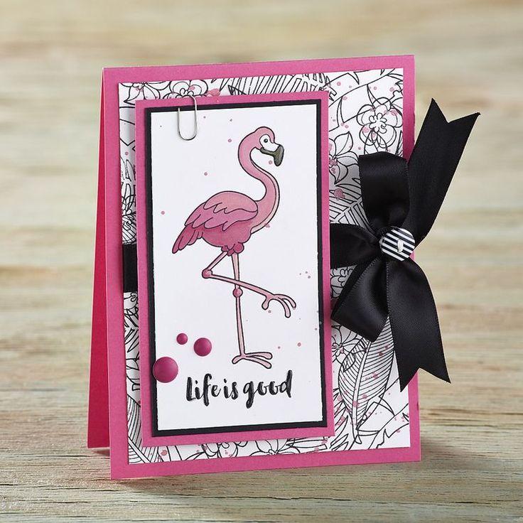 Февраля открытки, открытка фламинго своими руками