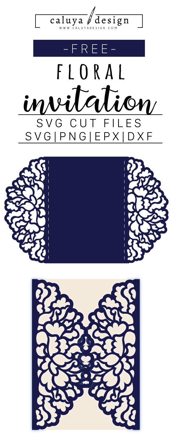 Free 7x5 Floral Invitation SVG, DXF, PNG & EPS by Free