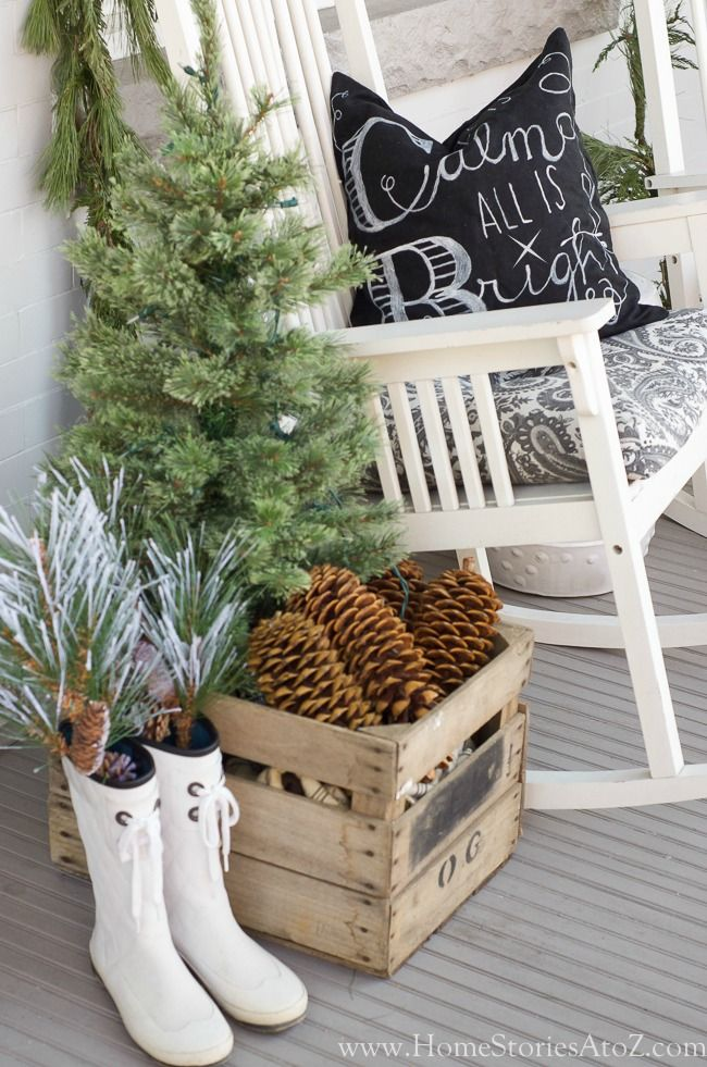 21 Christmas Porch Decoration Ideas winter decorations