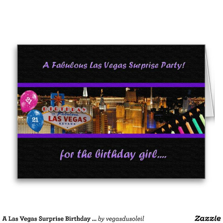 21 Best Las Vegas Birthday Cards Images On Pinterest