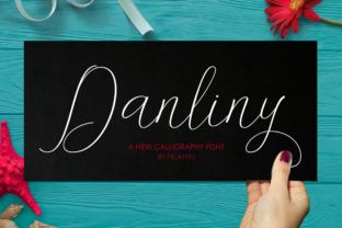 http://Danliny is a pretty and contemporary font, elegant enough to be used for the most special of your designs. Romantic and simple, Danliny won't compete with your designs but instead enhance them to their fullest potential. Add Danliny to your script collection today.