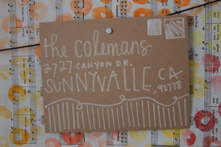 Hand Lettered Envelopes by thecuriouslifeshoppe