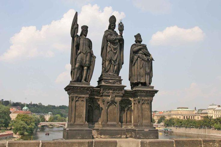 Sv. Norbert, Václav a Zikmund,Karlův Most, Josef Max -oba bratři Maxové dostávali spoustu zakázek a byli velmi akademicky orientovaní