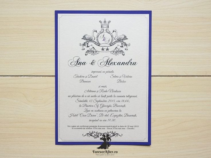 Invitatie de nunta Royal Wedding  | ForeverAfter.ro