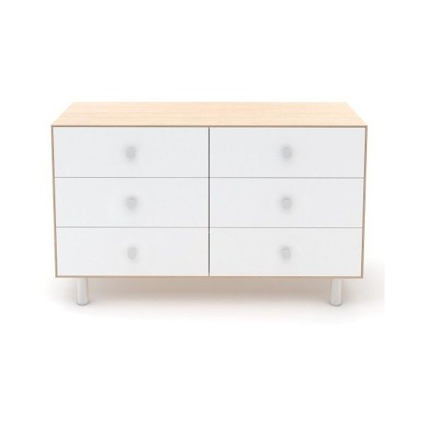 Oeuf Classic Merlin 6 Drawer Dresser ($1,390) ❤ liked on Polyvore featuring home, children's room and children's furniture