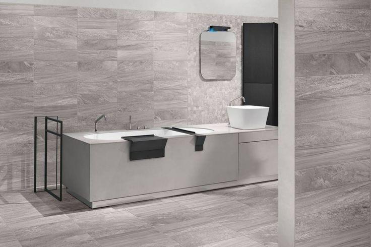 piastrelle bagno moderno grigio - Cerca con Google