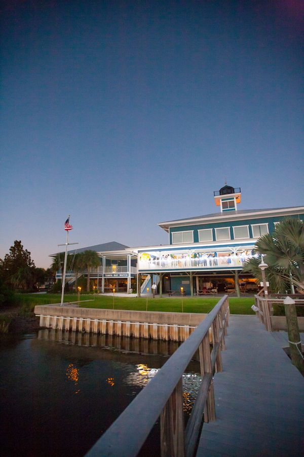 St Petersburg Waterfront Wedding Light Blue Yellow Tampa Bay Watch