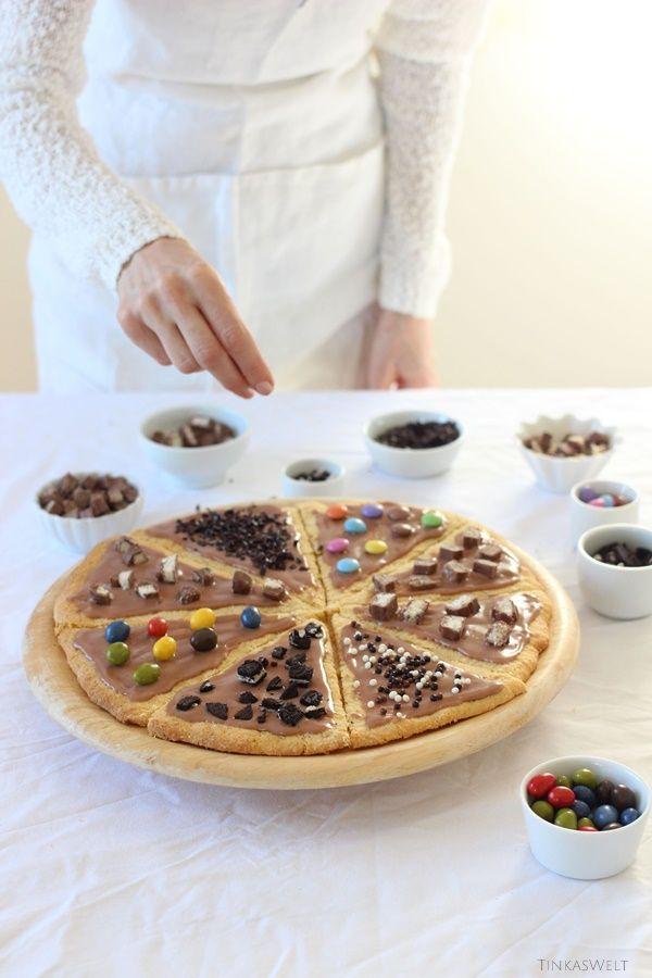 Tinkas Welt: Eine coole Cookie-Pizza für Kinderpartys!