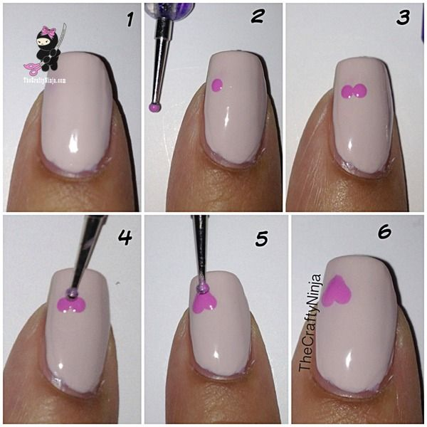 Going to try with Avon's nail dotting tool and speed dry nail polish. DIY Heart Nails