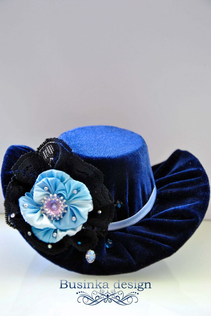 "Mini Top Hat ""Winter flowers"""
