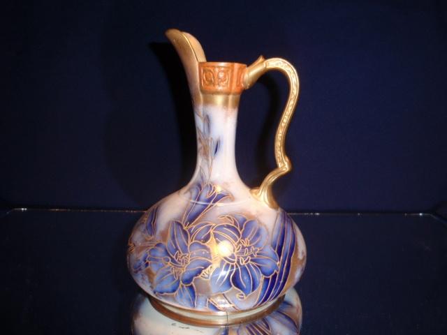 Rare Flow Blue vase