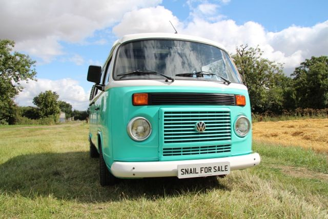 Florence turquoise coloured, water cooled VW camper for sale