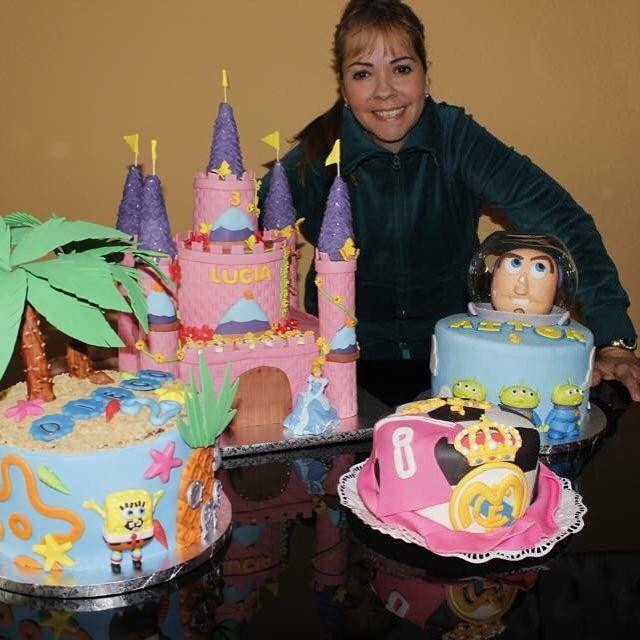 Tartas variadas - Castillo de princesa, Toy Story, Bob Esponja y Real Madrid