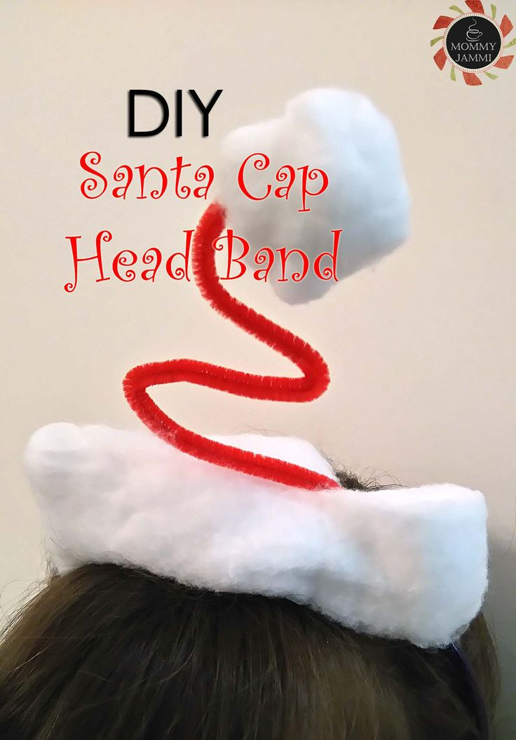 DIY Santa Cap Head Band