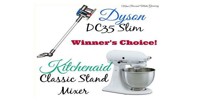Dyson DC35 Slim or Kitchenaid Classic Mixer Giveaway - One winner will receive a Dyson DC35 Slim or Kitchenaid Classic Mixer {winner's choice}. 1/20