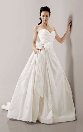 Priscilla of Boston 'Maeve' Strapless Ball Gown - Nearly Newlywed Wedding Dress Shop