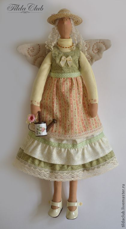 Куклы Тильды ручной работы. Ярмарка Мастеров - ручная работа Дачный ангел Тильда: Бетти. Handmade.