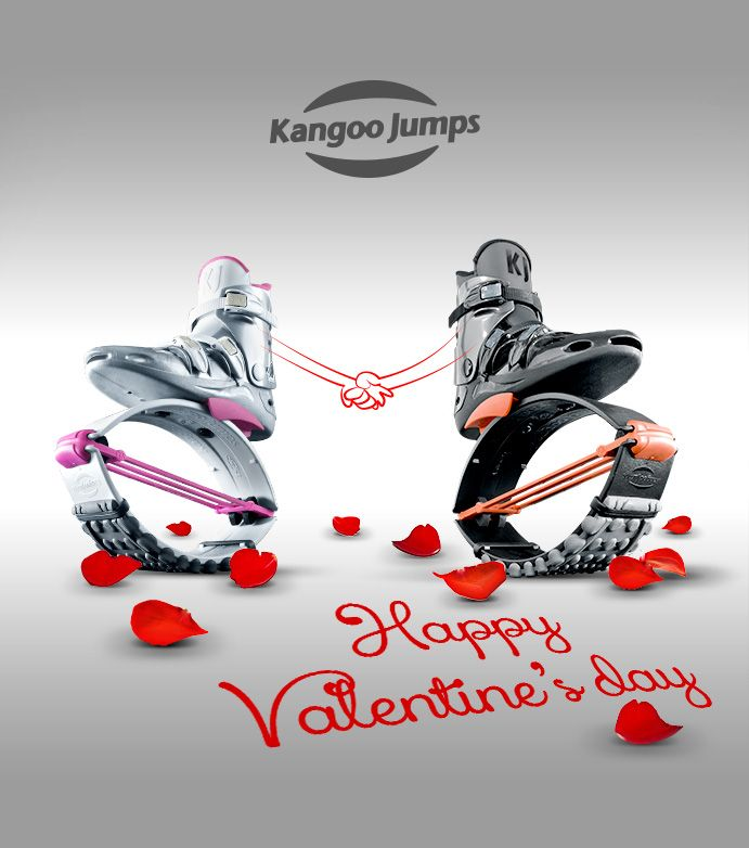 Jump is in the air. Are you searching for endorphins -happiness hormones?. We suggest you practice the best exercise ever to increase the production of endorphines. Kissing is one of the best, but Jumping around wearing Kangoo Jumps boots is proven to achieve better results. So, Friday St. Valentines Day, feel free.... Jumping or, Kissing or, Kissing while Jumping, we wish you all a very Happy Saint Valentine day!