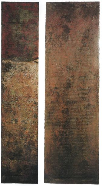 The Table of Herakleia.  Bronze tablets with inscriptions of laws.  Was the major contributor for Roman Law.  (Cerchiai 2002: 129)