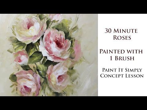 30 Minute Roses with 1 Brush - YouTube David Jansen