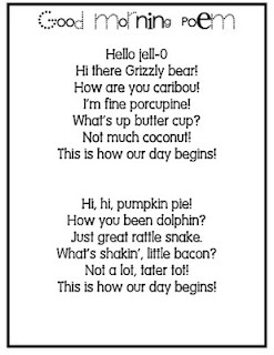 Good Morning poems!