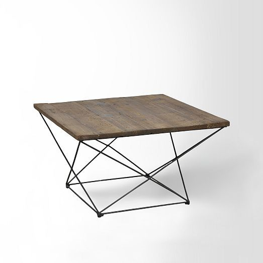 Angled Base Coffee Table | West Elm $499