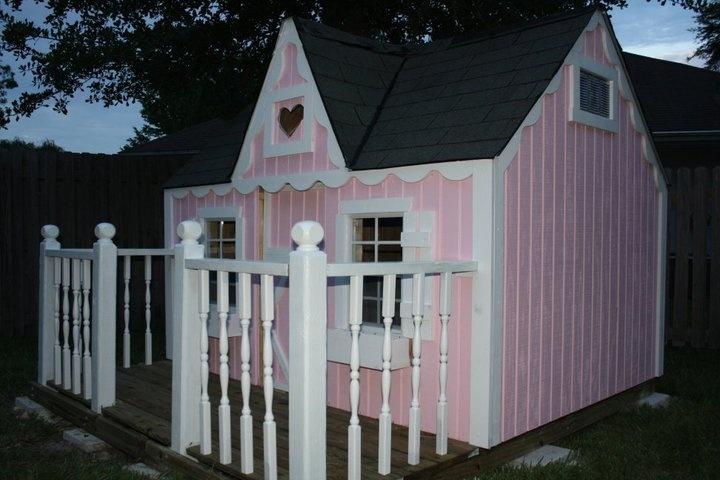 Pink Victorian Kids Playhouse. Spots-4-Tots, LLC. Jacksonville, FL. Children's Playhouse. Boys. Girls.