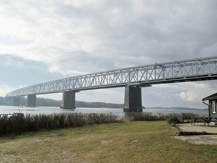 Den gamle Lillebæltsbro mellem Fyn og Jylland Danmark Middelfart