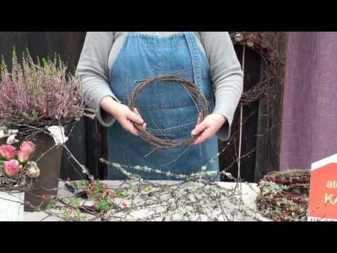 Hvordan binde kvistkrans. To make a wreath from birch twigs. In Norwegian but good video that shows the priciples even if you don't speak Norwegian.