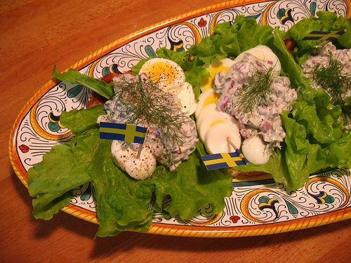 Scandinavian cuisine is a wonderfully distinctive world of simple, hearty ingredients culled from the cold ocean, the woods, the mountains, and the garden. From cured salmon to pickled gherkins, from reindeer meatballs to potato salad, the fare of Norway, Sweden, and Denmark (along with Finland, Iceland, and other countries included in certain geographic definitions of Scandinavia) has a spare elegance, one easily honored and emulated—to healthful effect—in the home kitchen.