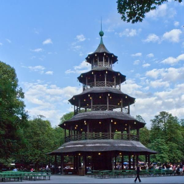 Fancy  Englischer Garten in Munich Germany travel biergarten