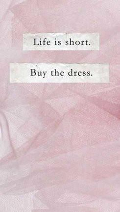 Life Is Short Buy The Dress Fashion & Shopping Quote | Ledyz Fashions Boutique - Women's Dresses, Cute Clothing, Stylish Shoes & Must Have Accessories || www.ledyzfashions.com