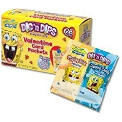 SpongeBob Squarepants Dig 'n Dips Valentine Card Packets - 52 Pouches Total